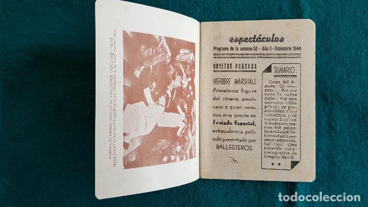 Cine: CARTELERA DE ESPECTACULOs SEMANA 50 (1944) CINES VALENCIA - RW - Foto 2 - 245360795