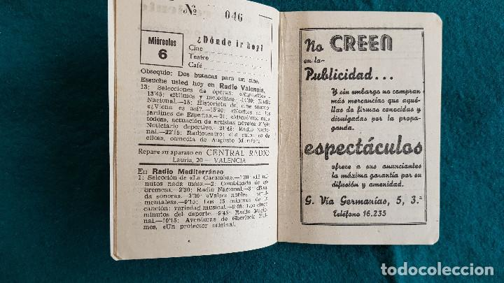 Cine: CARTELERA DE ESPECTACULOs SEMANA 50 (1944) CINES VALENCIA - RW - Foto 5 - 245360795
