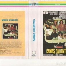 Cine: REPRODUCCION DE CARATULA DOS CARAS - CAMAS CALIENTES / TIEMPOS DE CONSTITUCION. Lote 245439850