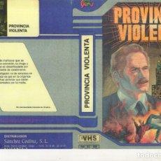 Cine: - REPRODUCCION DE CARATULA - PROVINCIA VIOLENTA - PAPEL FOTOGRAFICO. Lote 245441575