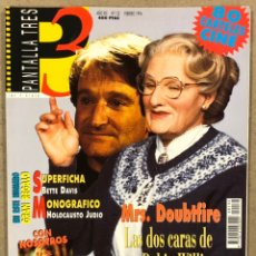 Cine: PANTALLA TRES 3 N° 132 (1994). COMPLETA (INCLUYE FICHAS). ROBIN WILLIAMS, BETTE DAVIS, RICHARD GERE. Lote 245574595
