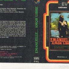 Cine: REPRODUCCION DE CARATULA - EMANUELLE AMOR LIBRE - PAPEL FOTOGRAFICO. Lote 245588865