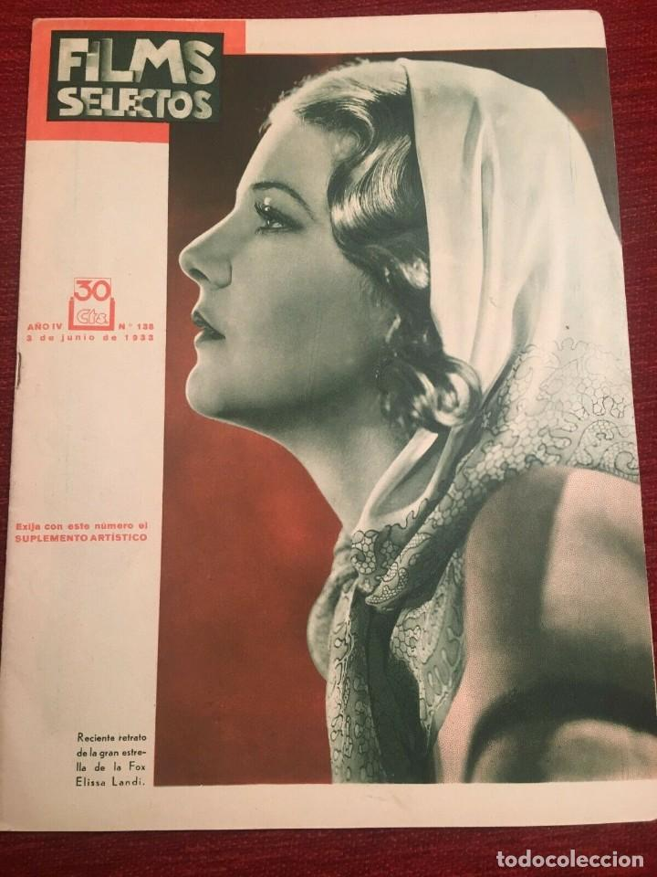 REVISTA FILM SELECTOS 1933 ELISSA LANDI JOAN CRAWFORD PEGGY SHANNON CARY GRANT MARIE PREVOST (Cine - Revistas - Films selectos)