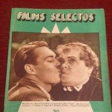Cine: REVISTA FILM SELECTOS MARIE DRESSLER 1933 ANN DVORAK LINE NORO JOAN CRAWFORD SYLVIA SIDNEY. Lote 245606320