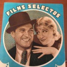 Cine: REVISTA FILM SELECTOS 1933 GRETA NISSEN ON COVER GRETA GARBO NORMA SHEARER DORIS KENYON. Lote 245606705