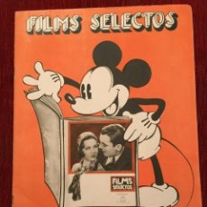 Cine: REVISTA FILM SELECTOS MICKEY MOUSE ON COVER 1932 LISSI ARNA JANET GAYNOR FRANCES DEE IRENE DUNNE. Lote 245607465