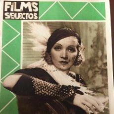 Cine: REVISTA FILM SELECTOS 1932 JOAN CRAWFORD MARLENE DIETRICH TOM MOORE CARMEN BARNES. Lote 245607925