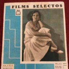 Cine: REVISTA FILM SELECTOS 1930 NORMA SHEARER DOROTHY JORDAN ESTELLE TAYLOR EVELYN BRENT G. ROLAND. Lote 245608580