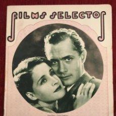 Cine: REVISTA FILM SELECTOS 1931 NORMA SHEARER ROBERT MONTGOMERY JUNE COLLYER CLAIRE LUCE R. DIX. Lote 245608700