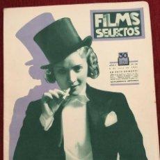 Cine: REVISTA FILM SELECTOS 1931 JOAN CRAWFORD MARLENE DIETRICH KAY JOHNSON RUDY VALLEE TWELVETREES. Lote 245608935