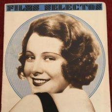 Cine: REVISTA FILM SELECTOS 1931 JOAN CRAWFORD MONTANA MOON FRANCES DEE JOSE MOJICA IMPERIO ARGENTINA. Lote 245609165