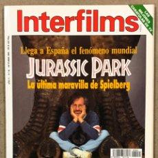 Cine: INTERFILMS N° 61 (1993). JURASSIC PARK, CARMEN MAURA, ANGELA BASSETT, HARRISON FORD,.... Lote 245609180