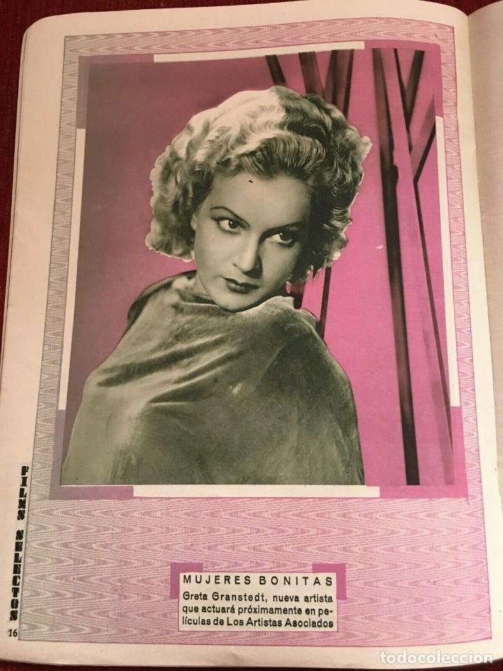 Cine: REVISTA FILM SELECTOS Sylvia Sidney Gary Cooper Joan Crawford Greta Granstedt Jarmila Novotna - Foto 3 - 245609415