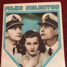 Cine: REVISTA FILM SELECTOS JOAN CRAWFORD LILIAN HARVEY EDWINA BOOTH MANUEL RUSSELL WARNER BAXTER. Lote 245609560