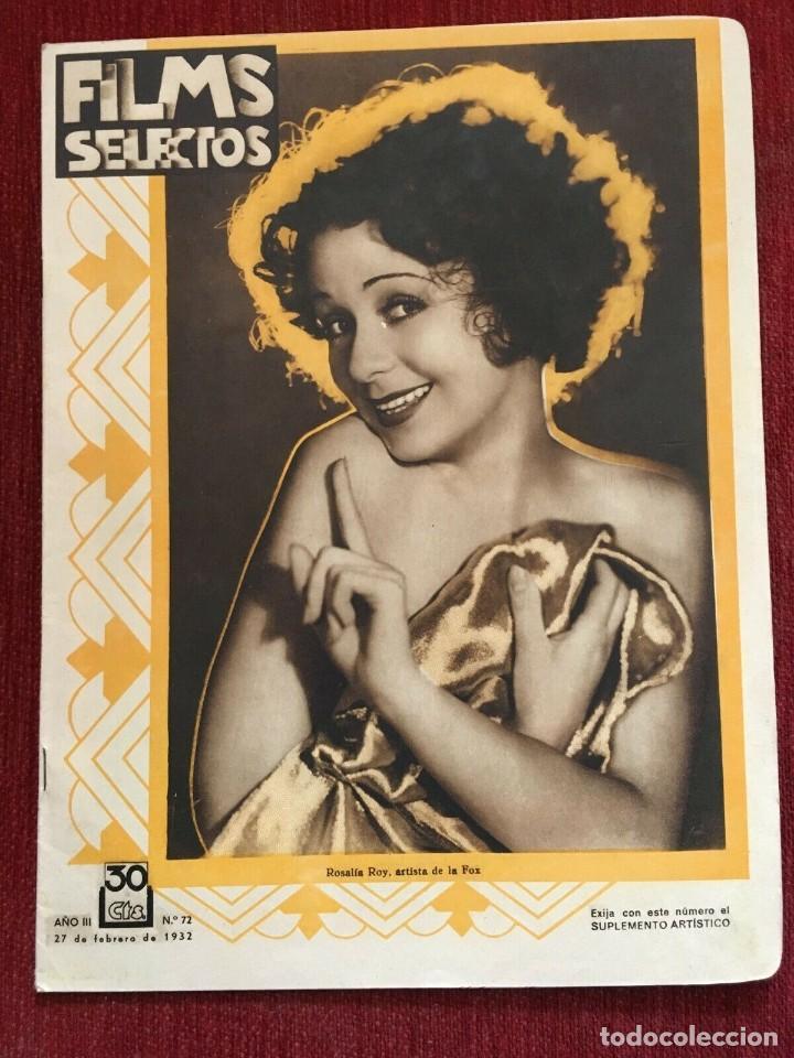 REVISTA FILM SELECTOS ROSALIA ROY JOAN CRAWFORD DOROTHY JORDAN ANITA PAGE WYNNE GIBSON A.GRAY (Cine - Revistas - Films selectos)