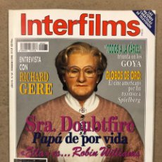 Cine: INTERFILMS N° 65 (1994). ROBIN WILLIAMS, SPIELBERG, RICHARD GERE, SHARON STONE, ESPARTACO,.... Lote 245610175