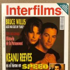 Cine: INTERFILMS N° 71 (1994). KEANU REEVES, BRUCE WILLIS, JODIE FOSTER, ANDY GARCIA, MARGARITA XIRGU. Lote 245613055