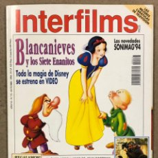 Cine: INTERFILMS N° 73 (1994). BLANCANIEVES (WALY DISNEY), LAURA DERN, LOS COHEN, PABLO CARBONELL,... Lote 245613560