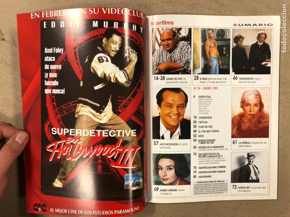 Cine: INTERFILMS N° 76 (1995). BRUCE WILLIS, KENNETH BRANAGH, ROBERT DE NIRO, JACK NICHOLSON,... - Foto 2 - 245620605