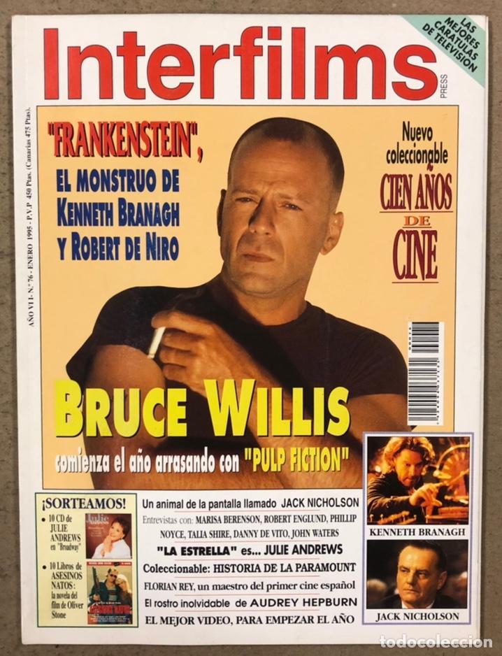 INTERFILMS N° 76 (1995). BRUCE WILLIS, KENNETH BRANAGH, ROBERT DE NIRO, JACK NICHOLSON,... (Cine - Revistas - Interfilms)