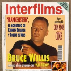 Cine: INTERFILMS N° 76 (1995). BRUCE WILLIS, KENNETH BRANAGH, ROBERT DE NIRO, JACK NICHOLSON,.... Lote 245620605