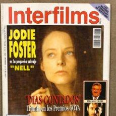 Cine: INTERFILMS N° 77 (1995). JODIE FOSTER, DÍAS CONTADOS, IMANOL URIBE, CARMELO GOMEZ, RUTH GABRIEL. Lote 245621310