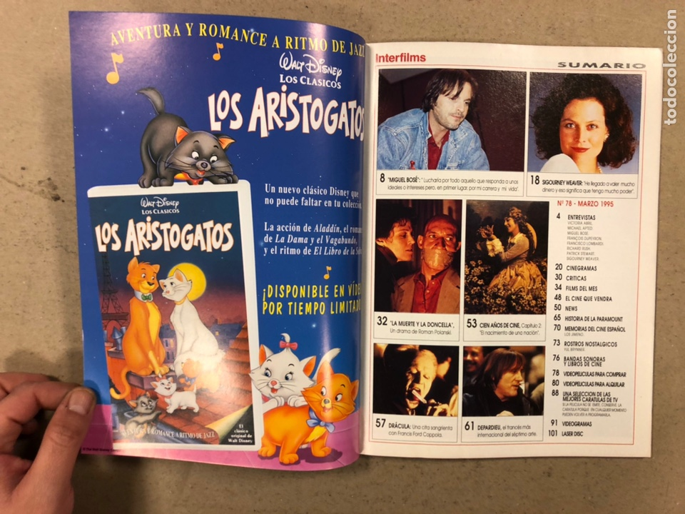Cine: INTERFILMS N° 78 (1995). VICTORIA ABRIL, MIGUEL BOSÉ, POLANSKI, MICHAEL APTED, FRANCISCO LOMBARDI - Foto 2 - 245621780