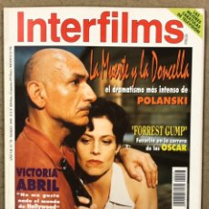 Cine: INTERFILMS N° 78 (1995). VICTORIA ABRIL, MIGUEL BOSÉ, POLANSKI, MICHAEL APTED, FRANCISCO LOMBARDI. Lote 245621780