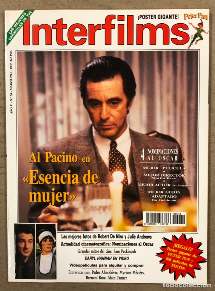 INTERFILMS N° 54 (1993). AL PACINO, ROBERT DE NIRO, JULIE ANDREWS, SAM PECKINPAH,... (Cine - Revistas - Interfilms)