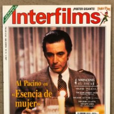 Cine: INTERFILMS N° 54 (1993). AL PACINO, ROBERT DE NIRO, JULIE ANDREWS, SAM PECKINPAH,.... Lote 245622800