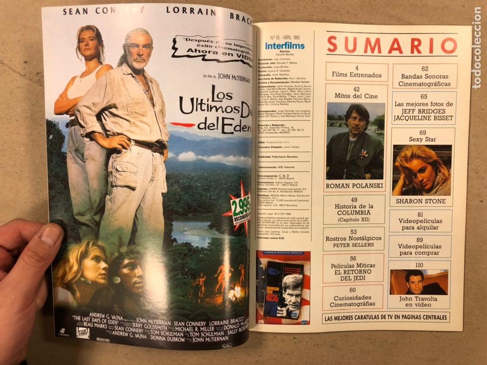 Cine: INTERFILMS N° 55 (1993). EL RETORNO DEL JEDI, SHARON STONE, POLANSKI, DUSTIN HOFFMAN, GEENA DAVIS - Foto 2 - 245623285
