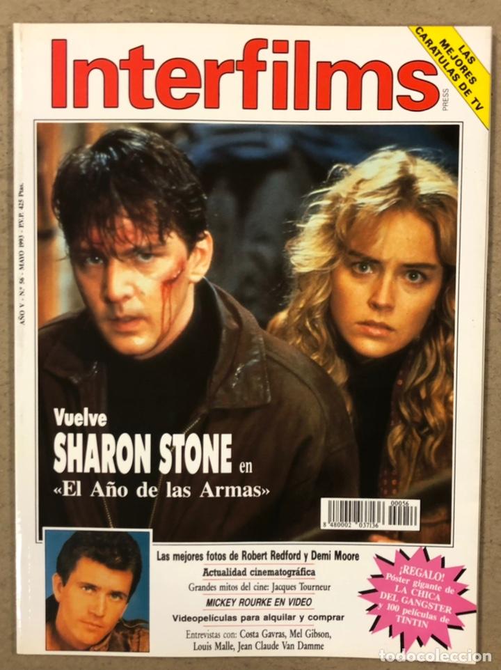 INTERFILMS N° 56 (1993). SHARON STONE, ROBERT REDFORD, DEMI MOORE, MARILYN MONROE, JACQUES (Cine - Revistas - Interfilms)