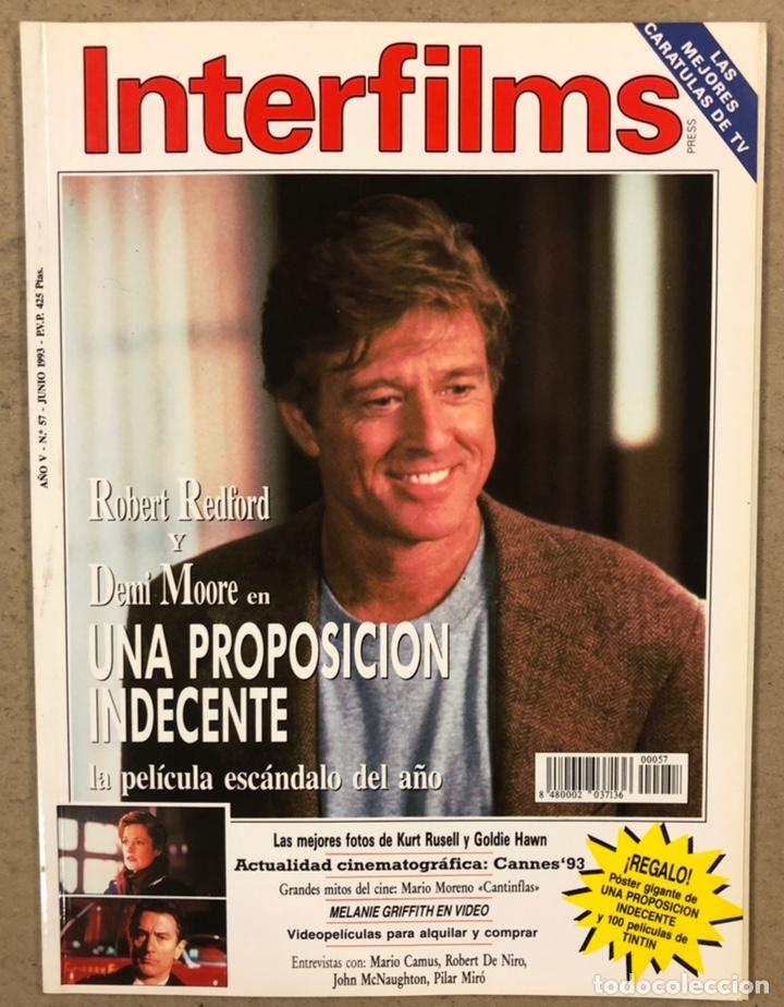 INTERFILMS N° 57 (1993). ROBERT REDFORD, DEMI MOORE, KURT RUSELL, GOLDIE HAWN, CANTINFLAS,... (Cine - Revistas - Interfilms)