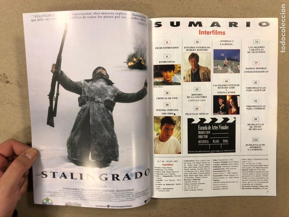 Cine: INTERFILMS N° 58 (1993). TOM CRUISE, DEMI MOORE, INCLUYE POSTER DE LAS TORTUGAS NINJA,... - Foto 2 - 245626085