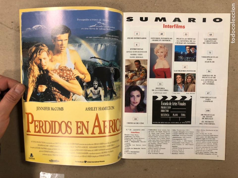 Cine: INTERFILMS N° 59 (1993). SCHWARZENEGGER, MARIBEL VERDÚ, MARILYN MONROE, KELLY MCGILLIS - Foto 2 - 245626600