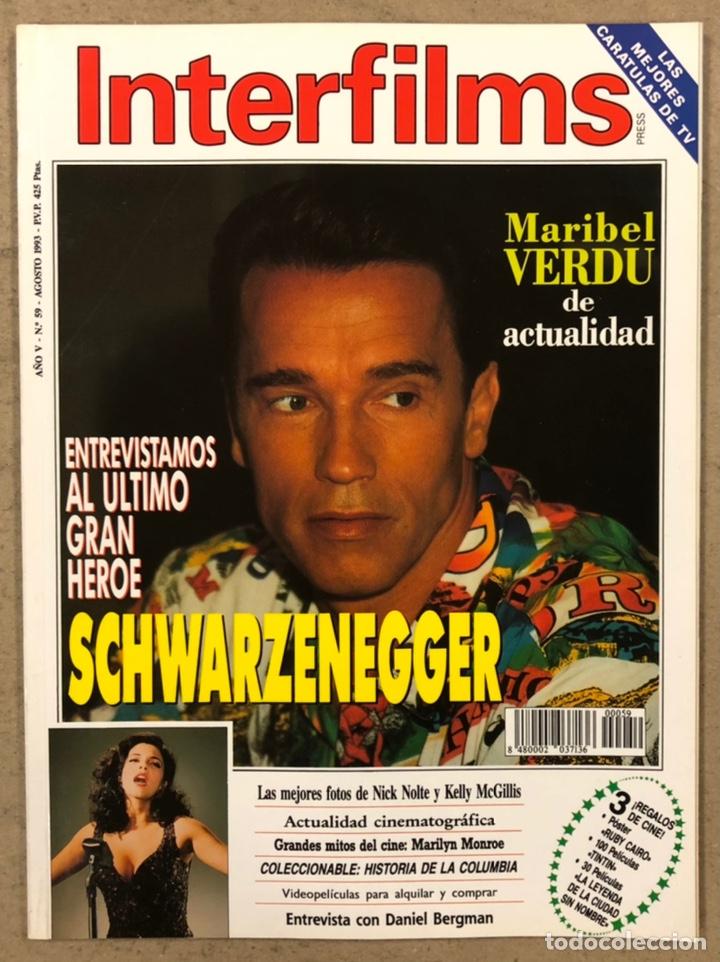 INTERFILMS N° 59 (1993). SCHWARZENEGGER, MARIBEL VERDÚ, MARILYN MONROE, KELLY MCGILLIS (Cine - Revistas - Interfilms)