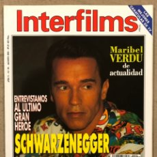 Cine: INTERFILMS N° 59 (1993). SCHWARZENEGGER, MARIBEL VERDÚ, MARILYN MONROE, KELLY MCGILLIS. Lote 245626600