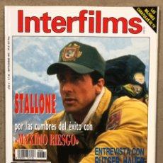 Cinema: INTERFILMS N° 60 (1993). STALLONE, RUTGER HAUER, BARBARA STREISAND, STEVEN SPIELBERG,.... Lote 245628165