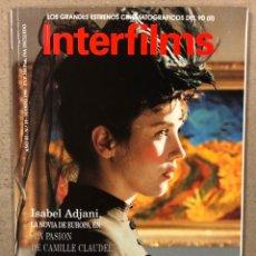 Cinema: INTERFILMS N° 19 (1990). ISABEL ADJANI, MARILYN MONROE, AVA GADNER, HISTORIA COMEDIA AMERICANA. Lote 245628825