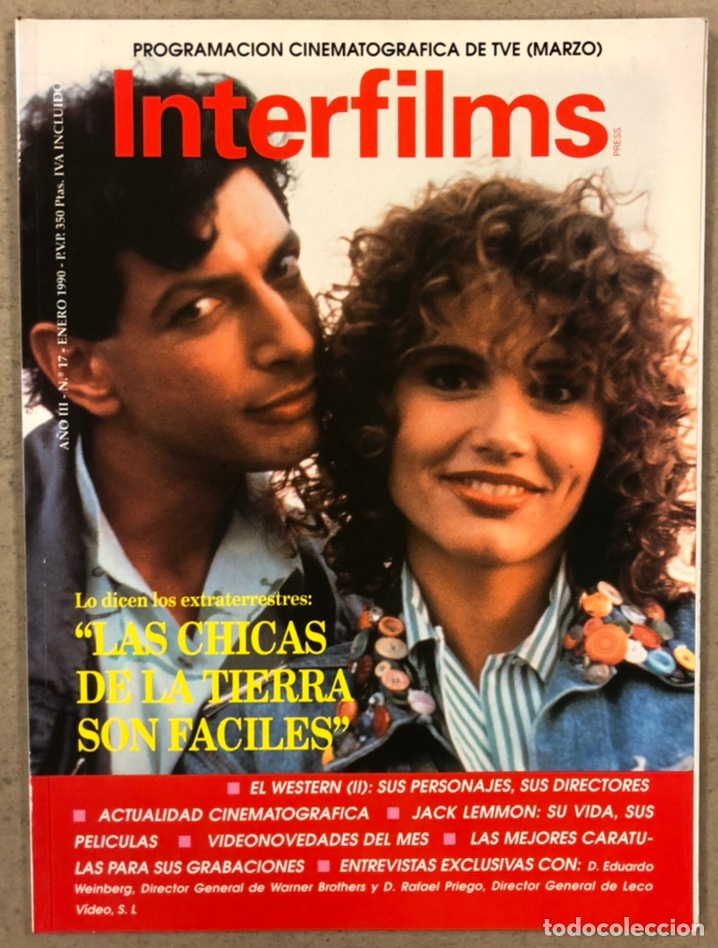 INTERFILMS N° 17 (1990). JACK LEMMON, EDWARD G. ROBINSON, WESTERN, CANNES '86 Y '87,... (Cine - Revistas - Interfilms)