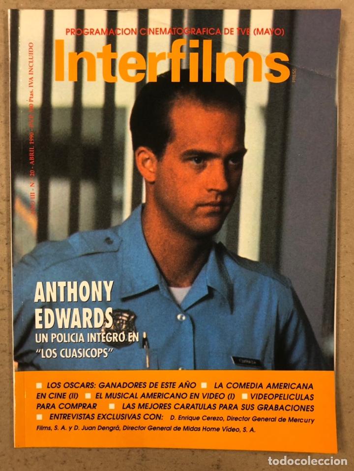 INTERFILMS N° 20 (1990). ANTHONY EDWARDS, JACK LEMMON, CARLOS SAURA, LA COMEDIA AMERICANA (Cine - Revistas - Interfilms)
