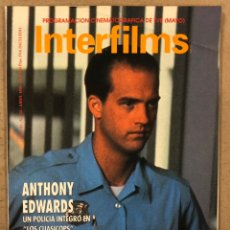 Cine: INTERFILMS N° 20 (1990). ANTHONY EDWARDS, JACK LEMMON, CARLOS SAURA, LA COMEDIA AMERICANA. Lote 245631095