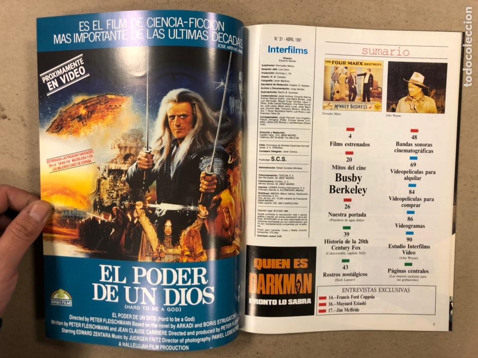 Cine: INTERFILMS N° 31 (1991). LOS HERMANOS MARX, JOHN WAYNE, BUSBY BERKELEY, COPPOLA,... - Foto 2 - 245632350