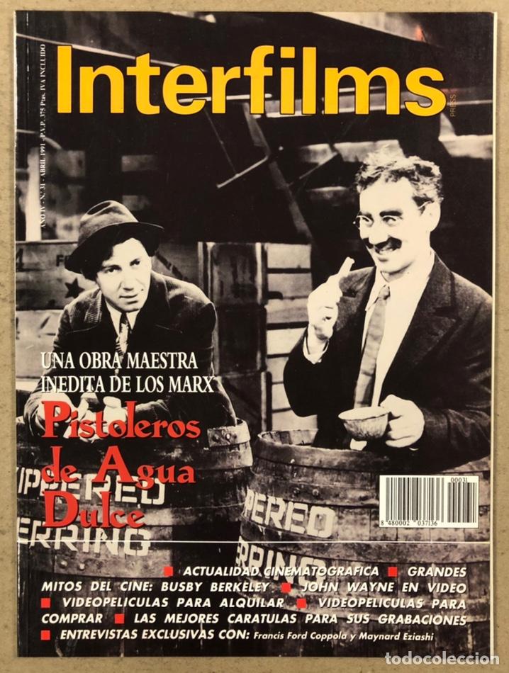 INTERFILMS N° 31 (1991). LOS HERMANOS MARX, JOHN WAYNE, BUSBY BERKELEY, COPPOLA,... (Cine - Revistas - Interfilms)