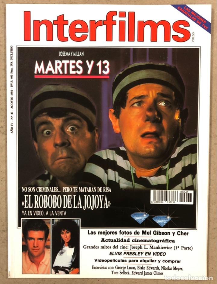 INTERFILMS N° 47 (1992). MARTES Y TRECE, MEL GIBSON, CHER, ELVIS PRESLEY, GEORGES LUCAS,... (Cine - Revistas - Interfilms)
