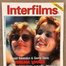 Cine: INTERFILMS N° 48 (1992). SUSAN SARANDON, GEENA DAVIS, KIM BASINGER, TOM CRUISE, BIGAS LUNA,.... Lote 245633665