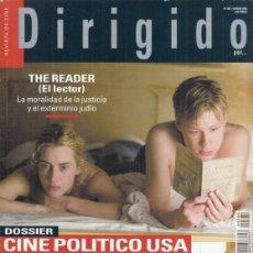 Cine: REVISTA DIRIGIDO POR Nº 386 AÑO 2009. DOSSIER CINE POLITICO USA. THE READER. EL LUCHADOR.. Lote 245758695