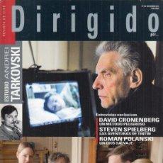 Cine: REVISTA DIRIGIDO POR Nº 416 AÑO 2011. ANDREI TARKOVSKI. DAVID CRONENBERG. STEVEN SPIELBERG.. Lote 245759245