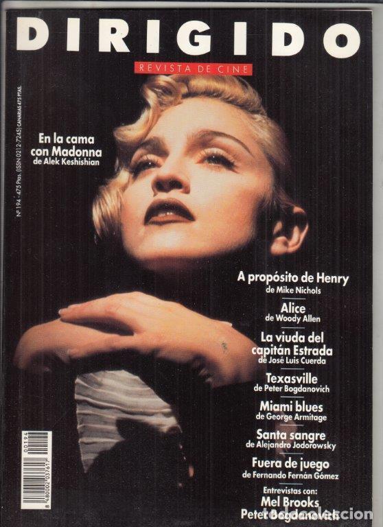 REVISTA DIRIGIDO POR Nº 194 AÑO 1991. EN LA CAMA CON MADONNA. MEL BROOKS. PETER BOGDANOVICH. (Cine - Revistas - Dirigido por)