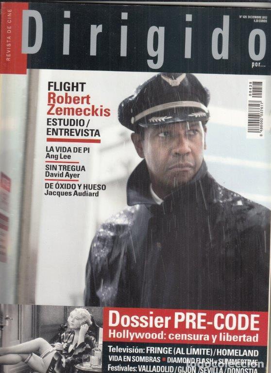 REVISTA DIRIGIDO POR Nº 428 AÑO 2012. DOSSIER PRE CODE. ROBERT ZEMECKIS. VALLADOLID, DONOSTIA. (Cine - Revistas - Dirigido por)